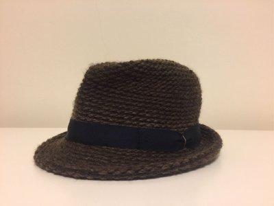 日本購回 深棕冬季款 專櫃高質感毛呢帽