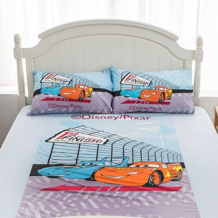 床包 / 雙人【Cars閃電麥坤賽車篇】含兩件枕套  人氣卡通授權  混紡精梳棉  戀家小舖台灣製ABE201