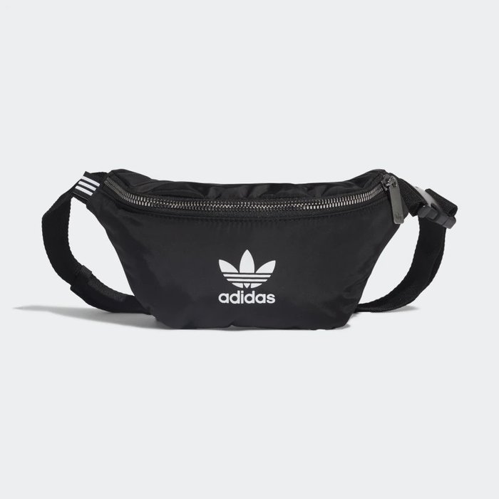 【IMP】ADIDAS ORIGINALS MINI LOGO WAIST BAG 小腰包 黑白  ED5875 現貨