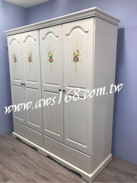 鄉村風實木彩繪衣櫃