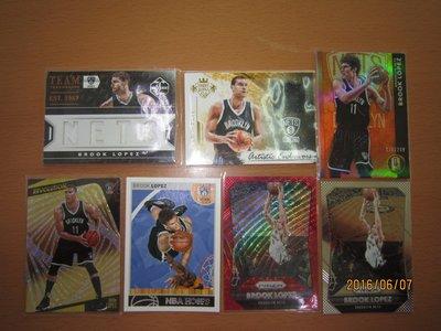 網拍讀賣~Brook Lopez~籃網隊球星~羅培茲~切割限量球衣卡/149~油畫限量球衣卡/299~金磚限量卡/299