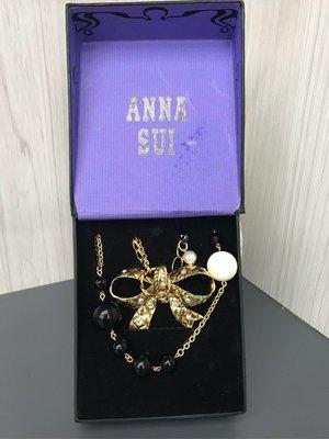 ANNA SUI 美國進口品牌 項鏈飾品 兩條一組