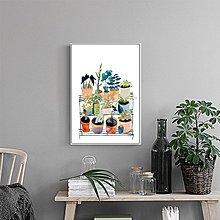 裝飾畫芯打印定制客廳餐廳臥室現代簡約掛畫畫芯小清新綠(3款可選)