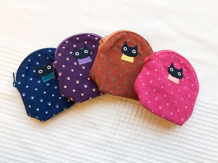 日本卡拉貓~小黑貓點點內防水零錢包