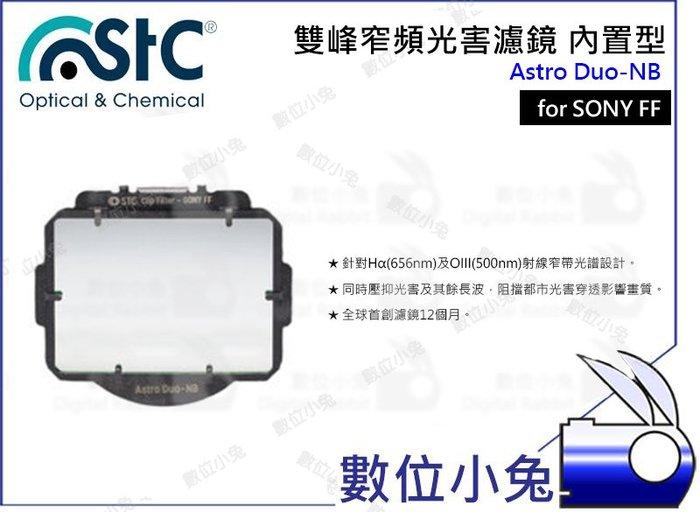 數位小兔【內置型 雙峰窄頻抗光害濾鏡 SONY FF Astro Duo-NB】內置型濾鏡 天文 STC