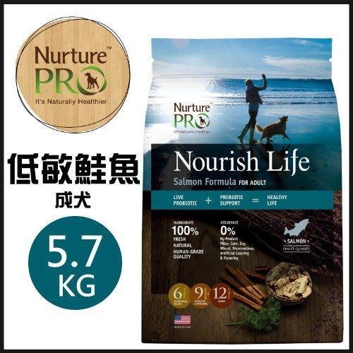 美國Nurture PRO 天然密碼 低敏鮭魚成犬配方5.7kg