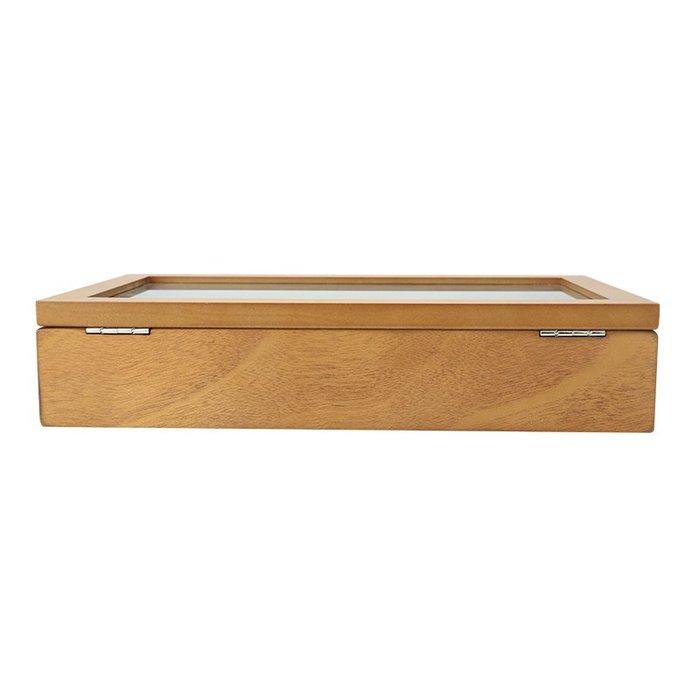洛克小店復古木質玻璃天窗手表盒子12格裝手串鏈展示箱收藏收納首飾盒