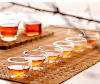 耐熱玻璃茶具 茶杯 品茗杯 雙層玻璃杯 賞茶杯 隔熱品茗茶杯 功夫茶品茗 (50ml)