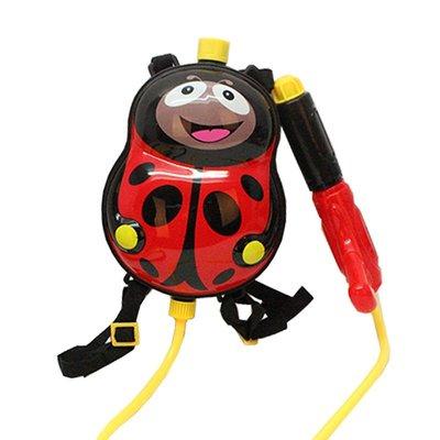 ☆天才老爸☆→瓢蟲 背包水槍←背包式 水槍 夏天 玩水 玩具 禮物 造型 兒童 氣壓式 水槍 益智 遊戲 桌遊 戶外 球