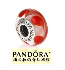 潘朵拉我最便宜{{潘朵拉的奇幻旅程}} PANDORA AUBURN SWIRL 紅色漩渦金魚紋 790669