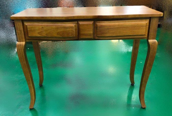樂居二手家具 台中全新中古傢俱家電 EA627CB 全新實木玄關桌*原木書桌 電腦桌 辦公桌 戶外休閒桌