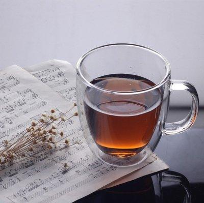 【無敵餐具】雙層玻璃杯/品茶杯-有柄(260cc)耐熱玻璃杯/蛋形雙層杯/雙層咖啡果汁杯量多歡迎來電詢價【L0064】
