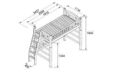雙層床 兒童床 兒童家具 多功能家具 架高床 【側爬梯架高床】基本款 *兒麗堡*