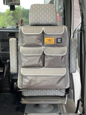 SNPK 通用款 椅背收納袋! VW T6 T5 T4 T3 掀頂 california 1680D灰色 露營車