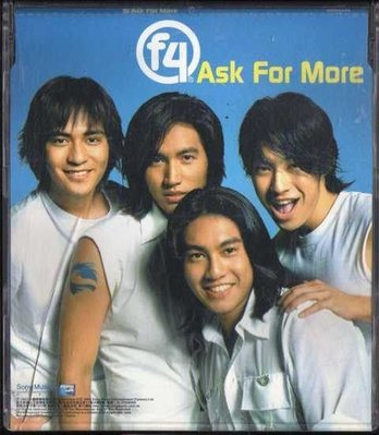 ~拉奇音樂~ F4  ASK FOR MORE  百事可樂2002廣告主題曲  宣傳單曲  2手保存良好