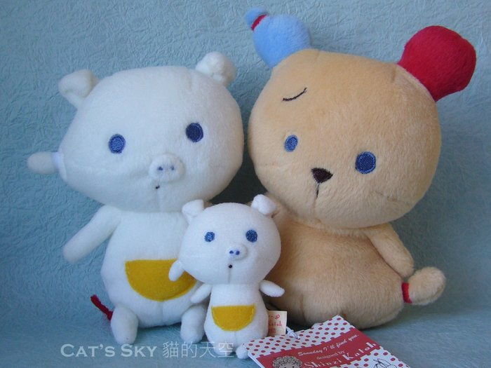 《Cat Sky》日本『Shinzi Katoh加藤真治繪本』超可愛熊熊隨身玩偶(一只460元)