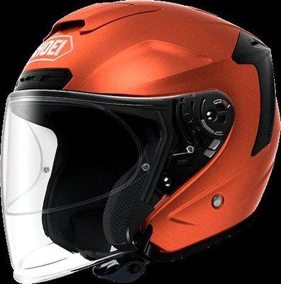 《鼎鴻》SHOEI半罩式3/4 素色安全帽 J-FORCE IV 亮橘