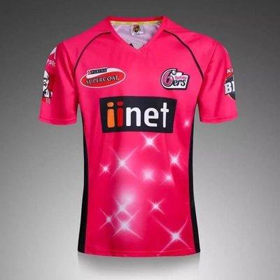 漫無止境weej 2017 悉尼四人隊板球服男子板球服 sydney 6Eers cricket jersey