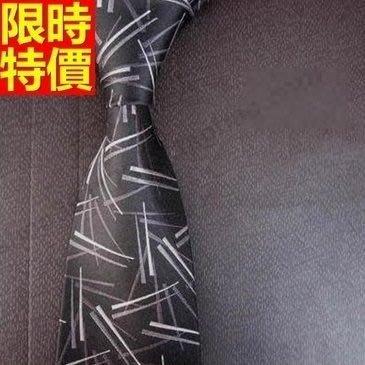 領帶 桑蠶絲男配件-休閒窄黑底碎花紳士手打領帶66ae27[獨家進口][巴黎精品]
