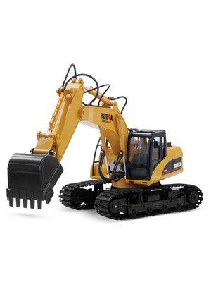 積木城堡 迷你廚房 早教益智遙控長臂挖掘機模型合金液壓兒童電動玩具充電仿真勾機挖機挖土車