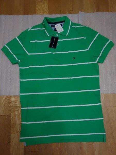 五月購物節結標再打8折全新真品 Tommy Hilfiger  短袖 POLO衫 上衣 亮綠 男  S號