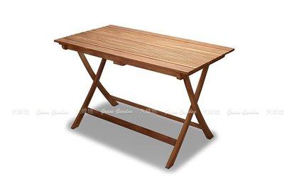 柚木 折合長桌(120公分)【大綠地家具】100%印尼柚木實木/柚木餐桌/實木餐桌/室內戶外兩用/可摺疊收納