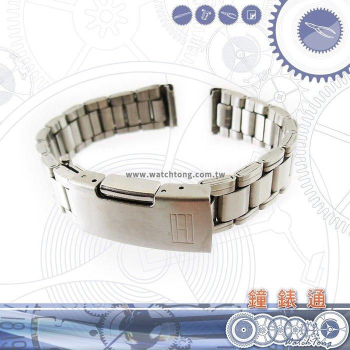 【鐘錶通】板折帶 金屬錶帶 B3414S - 14mm