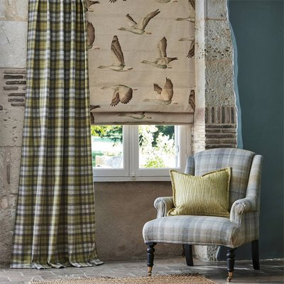 【Uluru】英國期貨窗簾布藝 美式鄉村 ELYSIAN GEES (3色) 飛鵝 訂製窗簾 捲簾 羅馬簾 壁紙