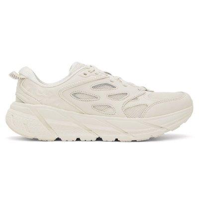 R'代購 HOKA ONE ONE Clifton L Tofu beige 沙色越野跑鞋 1117050-TTF 男女