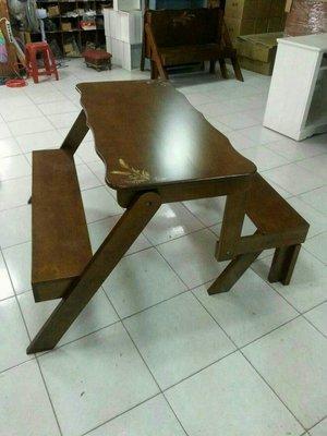 休閒餐桌椅組(可收納摺疊)