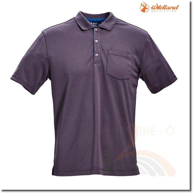 荒野 WILDLAND 0A71652-93 男款椰碳紗吸排POLO衫 抗UV 吸濕 快乾 抗菌 喜樂屋戶外