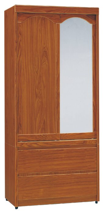 【南洋風休閒傢俱】精選時尚衣櫥 衣櫃 置物櫃 拉門櫃 造型櫃設計櫃- 柚木3*6尺二抽衣櫥 CY187-364