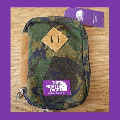 ∵ PRAY FOR FASHION ∴日本紫標產線TNF迷彩戶外豬鼻子帆布護照包多夾層證件包手拿包