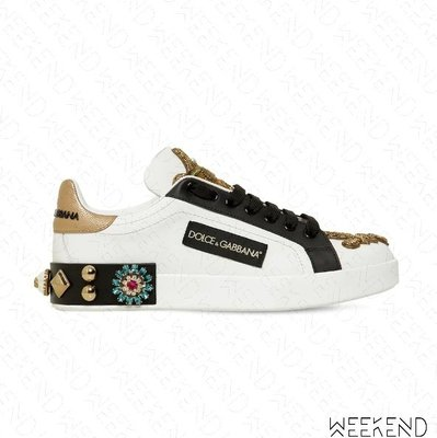 【WEEKEND】 DOLCE & GABBANA D&G Portofino Beaded 串珠 休閒鞋 19秋冬