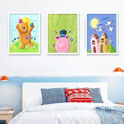 寶貝夢想實木裝飾畫兒童房幼兒園掛畫英文幼兒培訓班墻畫