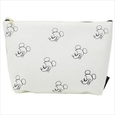 現貨 日本 正品 迪士尼 米奇 帆布 大容量 化妝包 小包 包包 小物 收納 袋