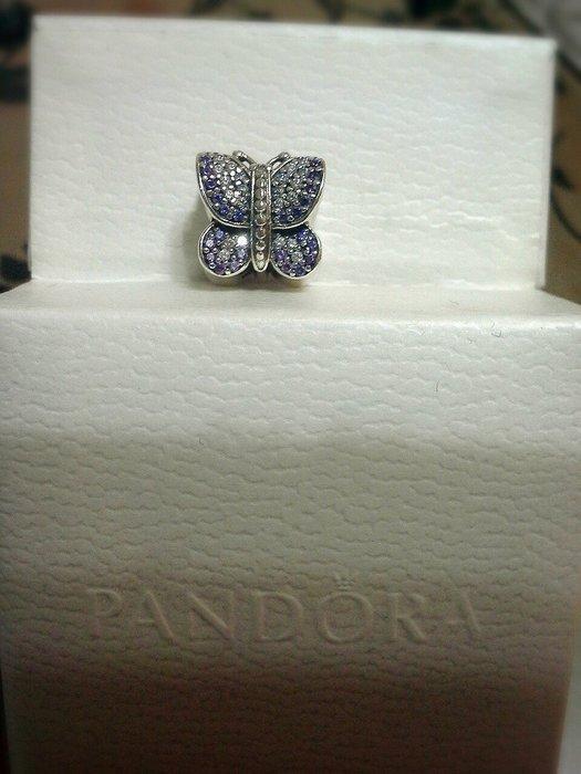 潘朵拉PANDORA漸層紫色滿鑽蝴蝶串珠~  誠可小議~歡迎面交~別拿仿品的價格來比較