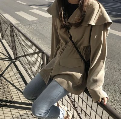 港版BF風收腰寬鬆休閒外套夾克風衣...