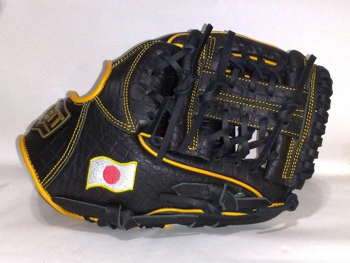 貳拾肆棒球-日本ZETT special order 硬式內野手用手套/特別訂製款/鱷魚紋