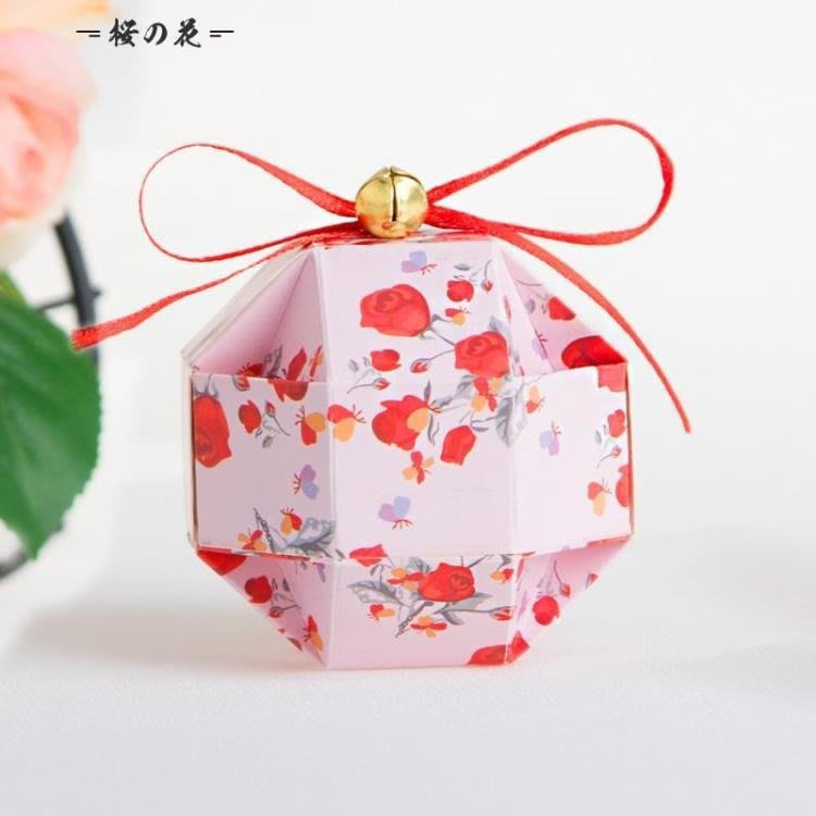 歐式幸福之鈴糖盒100只裝 結婚喜糖盒子 生日 滿月XBD
