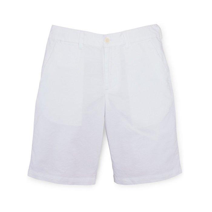 美國百分百【全新真品】Ralph Lauren 短褲 休閒褲 褲子 Polo 牛津布 RL 小馬 白色 29腰 H103