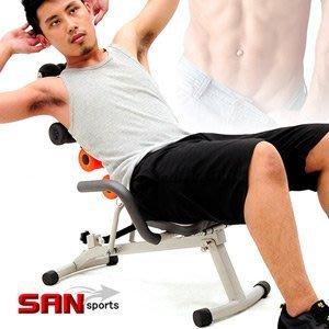 美背機SAN SPORTS速立挺美背機C080-619健腹機健腹器.健身機.仰臥起坐板.健身器材全能塑體健身機【推薦+】
