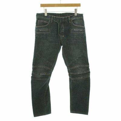 Balmain homme 藍色3D機車褲 lv bv thom browne slp balenciaga