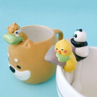 ~Life Sense~~Decole~陶瓷枕頭狗狗杯緣湯匙 咖啡匙 小湯匙 攪拌棒 小鳥