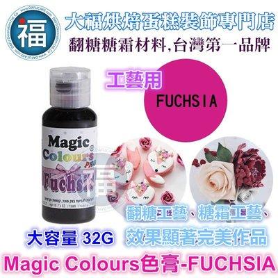 【MagicColor】色膏-Fuchsia紫紅 僅蛋糕工藝裝飾使用 適用惠爾通wilton蛋白粉噴筆色粉翻糖非食用色素