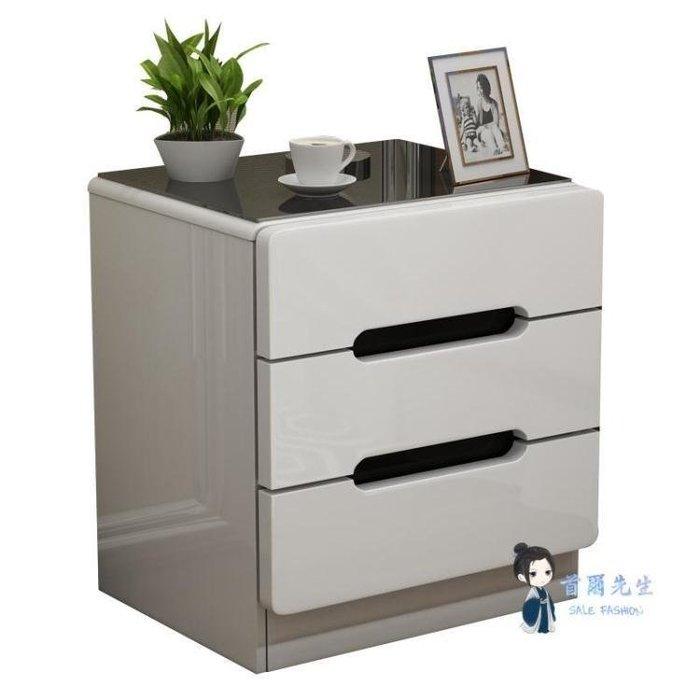 MOSHOP 床頭櫃 簡約式式式現代床頭櫃簡易床邊收納小櫃子儲物櫃北歐臥室小型床邊櫃T 多色MS6P9
