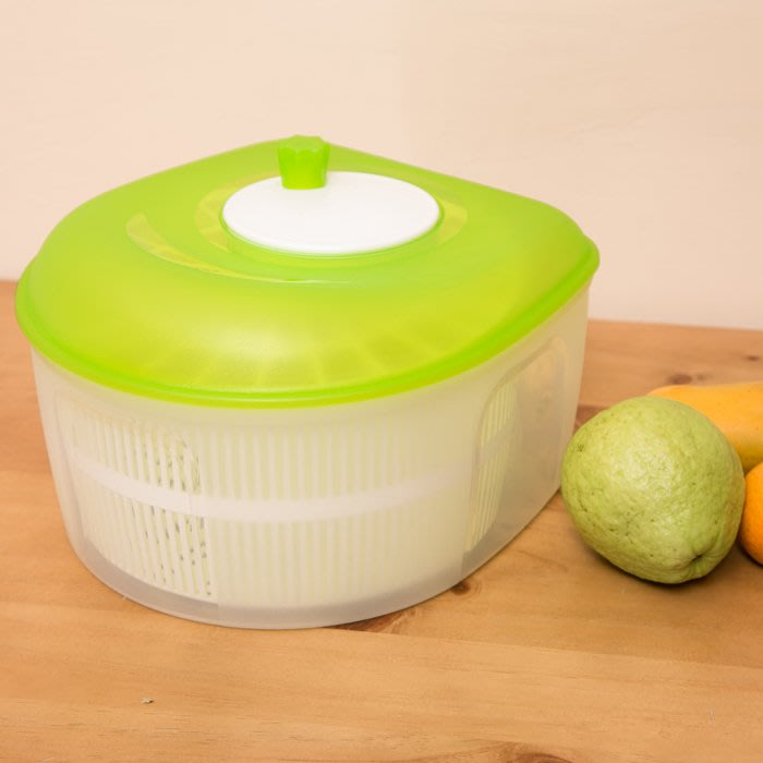 【沙拉蔬果脫水器】瀝水器 瀝乾器 洗淨脫水器 洗菜機 蔬果洗淨器P9108[金生活]