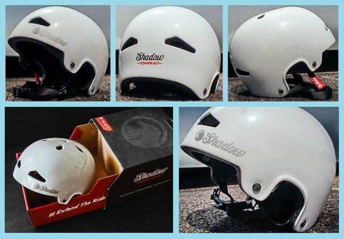 [I.H BMX] 輕量級 安全帽 SHADOW FEATHERWEIGHT IN-MOLD 白色 極限單車街道車單速車地板車Fixed Gear特技腳踏車