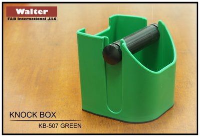 【豆哥】Walter 小型咖啡渣桶、敲粉盒、咖啡粉收集桶、Espresso Knock Box (KB-507G)綠色