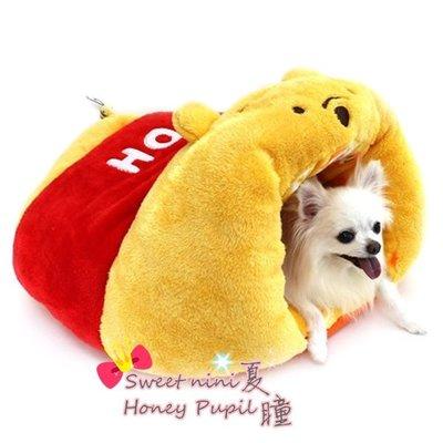 夏瞳✿ 鄉村雜貨✿ ╰☆日本 Pet Paradise DISNE 小熊維尼與蜜蜂造型保暖睡袋 睡床 睡窩 ☆╮現貨免運